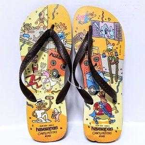 NWOT Havaianas Cartunistas Flip Flops Sandals 9